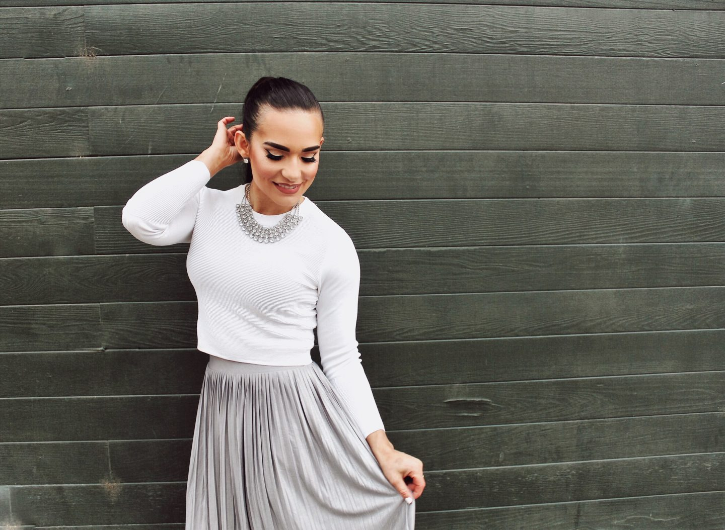 Holiday Looks Under $50 Fashion Silver skirt