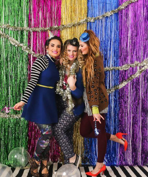 Fun Colorful New Years Eve Photoshoot