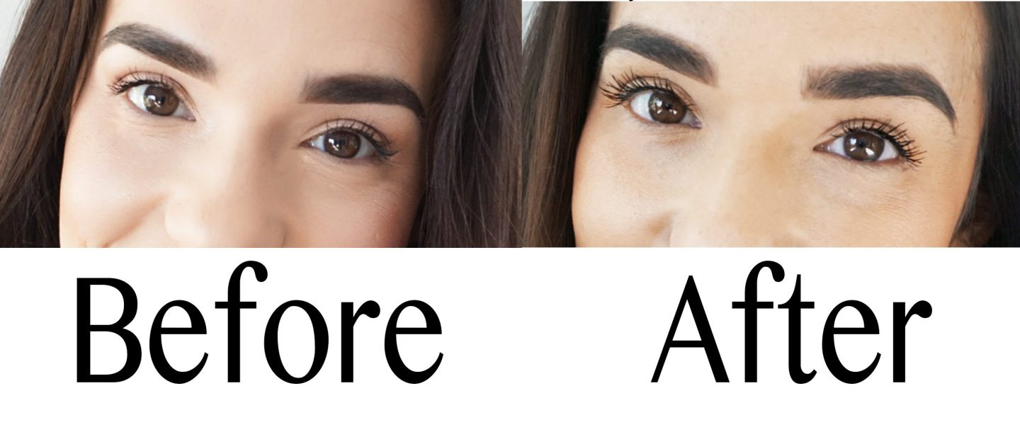 Lashes Before and After Collage