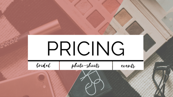 PRICING FOR HAIR AND MAKEUP SERVICES